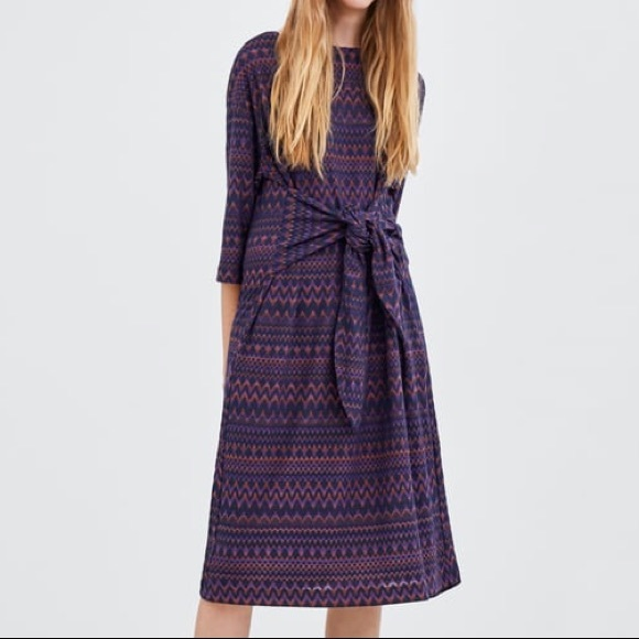 Zara Dresses & Skirts - NWOT ZARA DRESS WITH KNOTTED FRONT S
